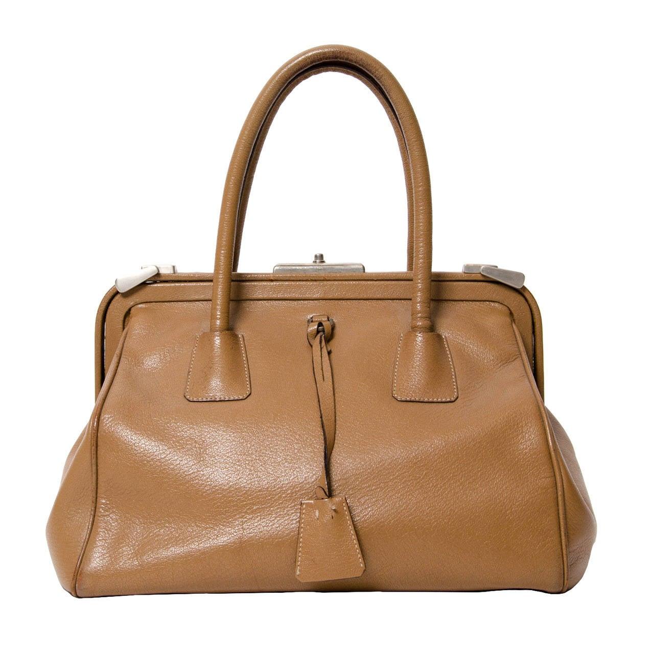 27f263721e541a Prada Leather Madras Cerniera Doctor Bag at 1stdibs