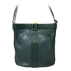 Delvaux Dark Green Shoulder Bag