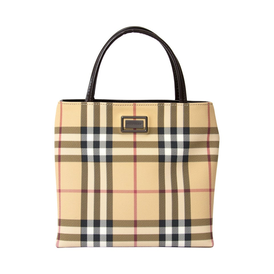 Burberry Coated canvas Nova Handbag For Sale