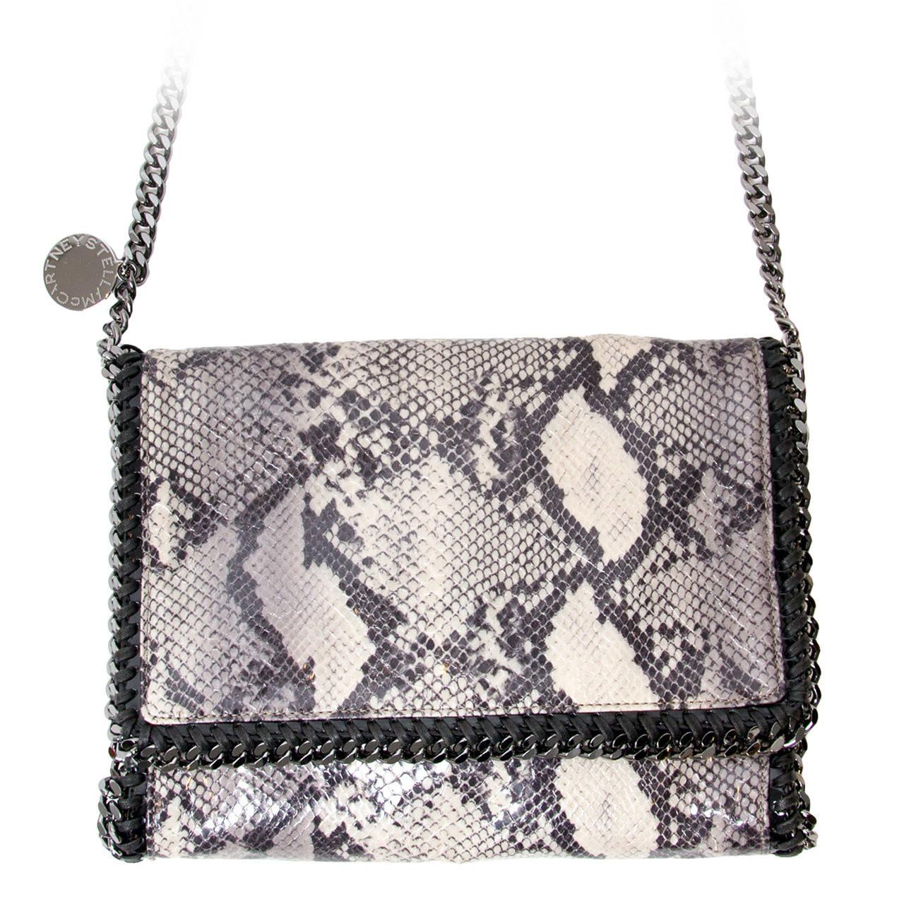 bba0f9bb80ff Stella McCartney Falabella Shoulder Bag Eco Python For Sale. Faux snakeskin  leather ...