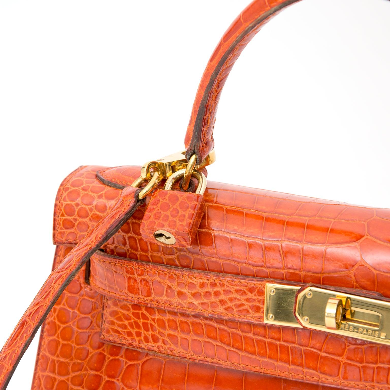 3fa4e8904083 ... store hermès kelly 28cm rouge agathe crocodile porosus ghw with strap  for sale at 1stdibs 22b1c