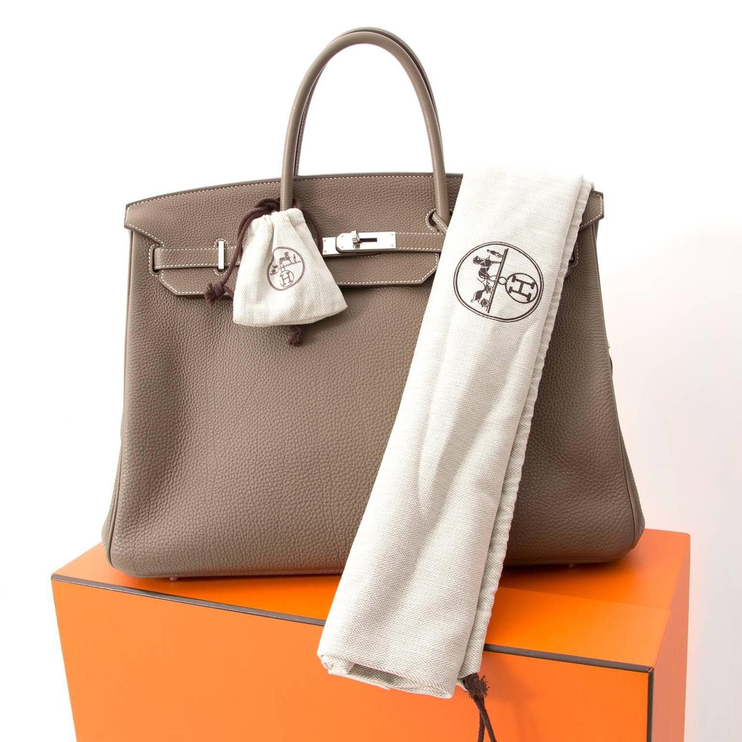 Herm¨¨s Birkin 40 Togo Etoupe Grey PHW For Sale at 1stdibs