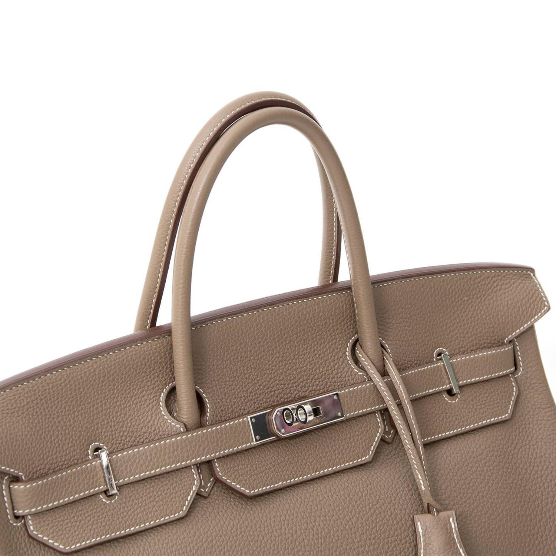 554e55c5f6 Hermès Birkin 40 Togo Etoupe Grey PHW at 1stdibs