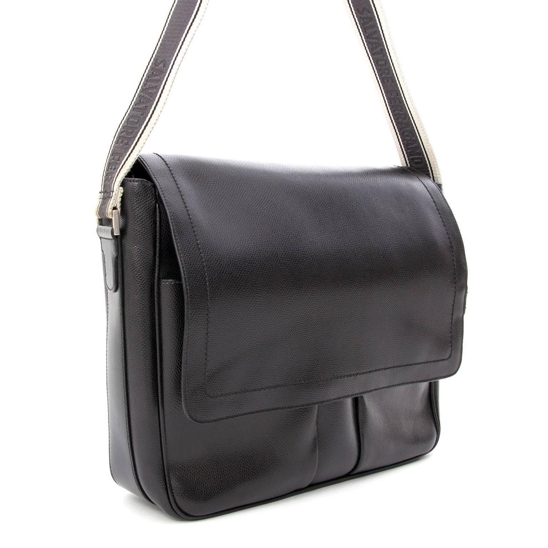 Salvatore Ferragamo Black Messenger Bag at 1stdibs 93237d3f4a2b1