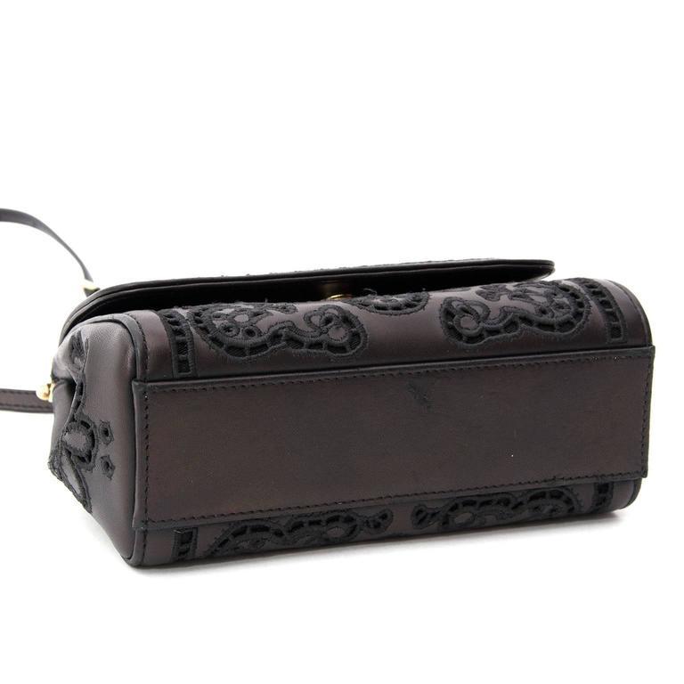 905e5e0278 Dolce   Gabbana Mini Sicily Bag Cutwork Napa Leather In Excellent Condition  For Sale In Antwerp