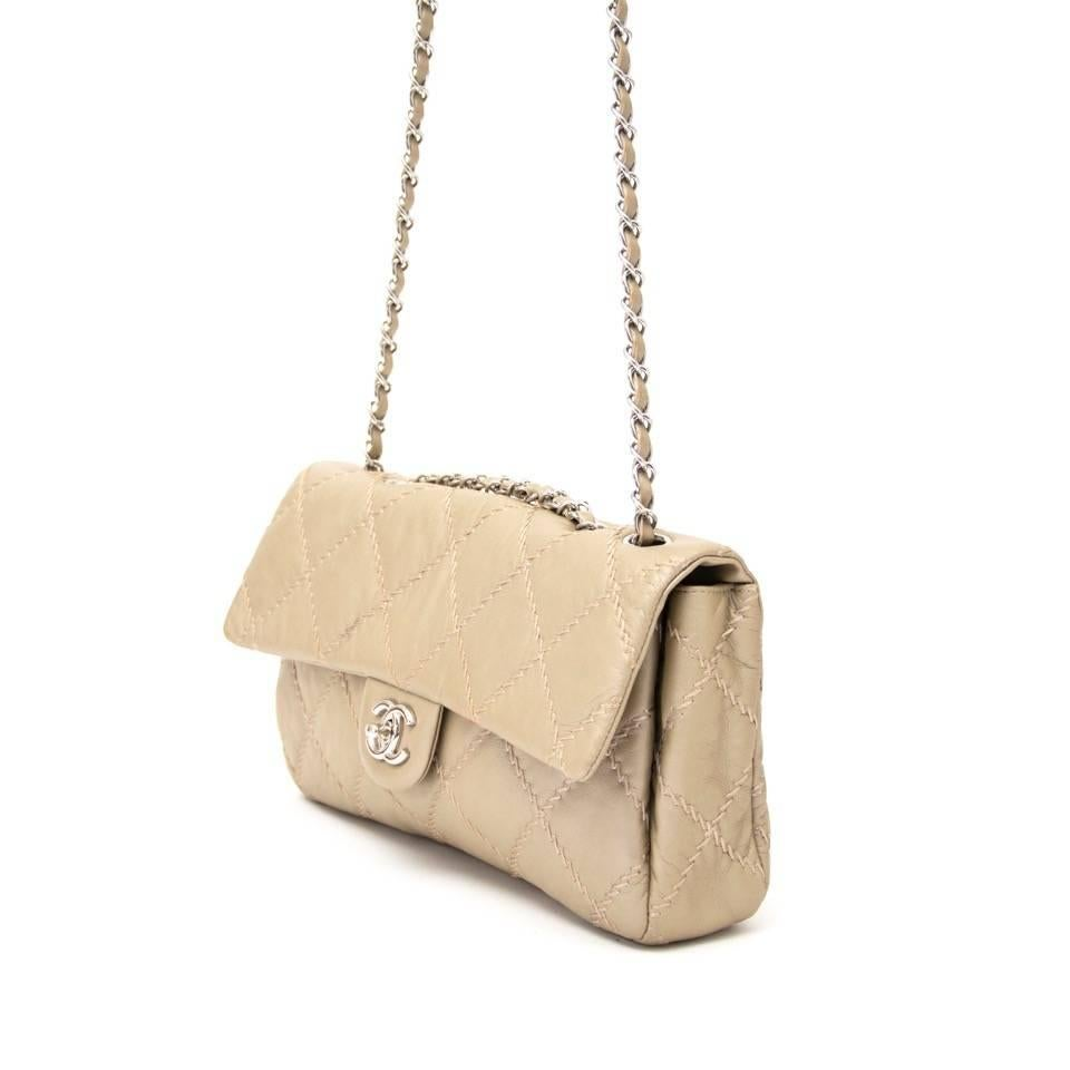 abfdfd444f72 Chanel Gold East West Ultra Stitch Flap Bag at 1stdibs