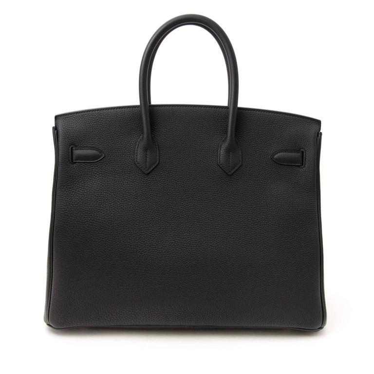 6400c48d6b Brand New Hermes Birkin Black Togo 35 GHW at 1stdibs