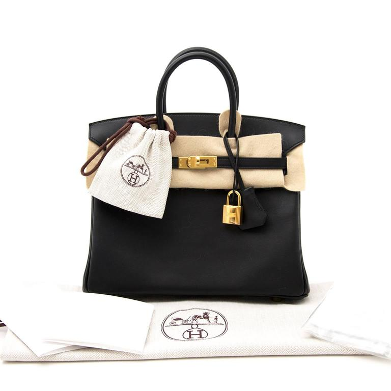 b0a995c84e8a Brand New Hermes Birkin 25 Black Swift GHW at 1stdibs