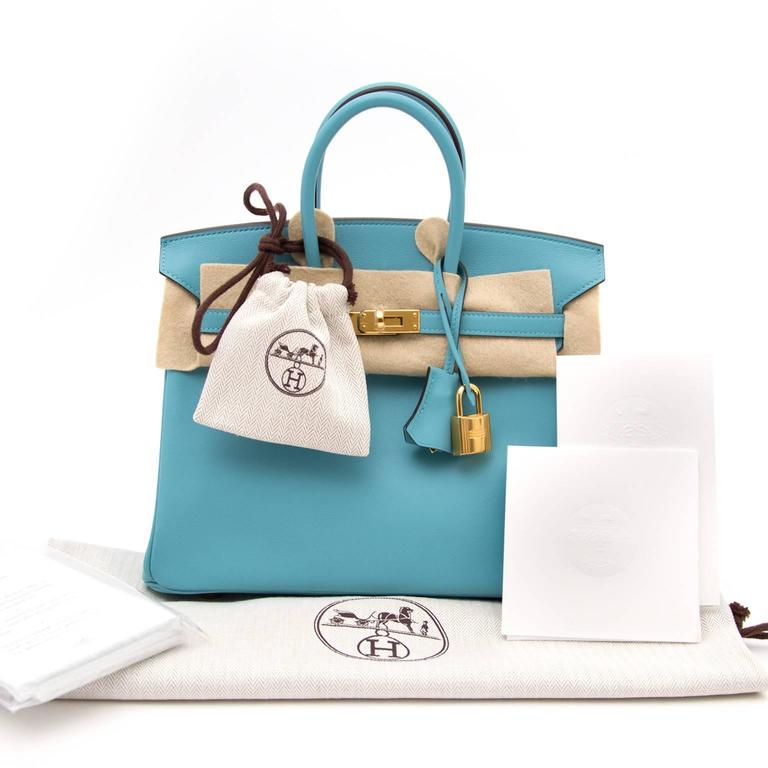 ba01bfa317b6 BRAND NEW Hermès Birkin 25 Swift Bleu Saint Cyr Skip the waitinglist and  get this amazing