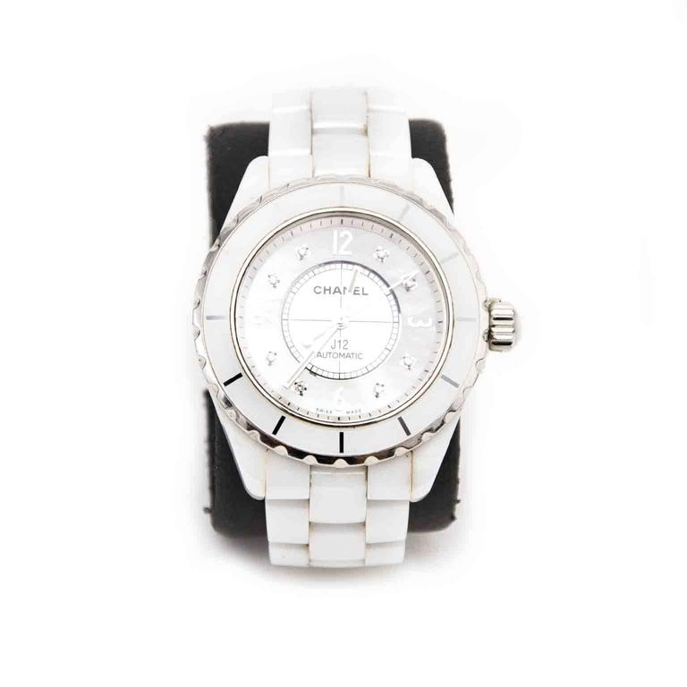 quartz ladies watch ceramic diamonds white chanel watches