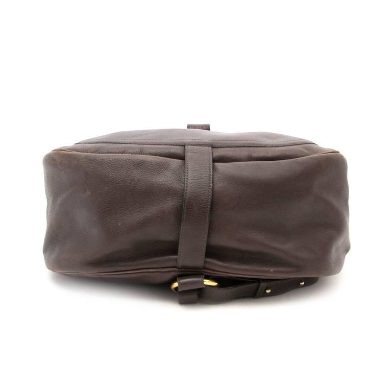 Delvaux Brown Cerceau GM Backpack 3