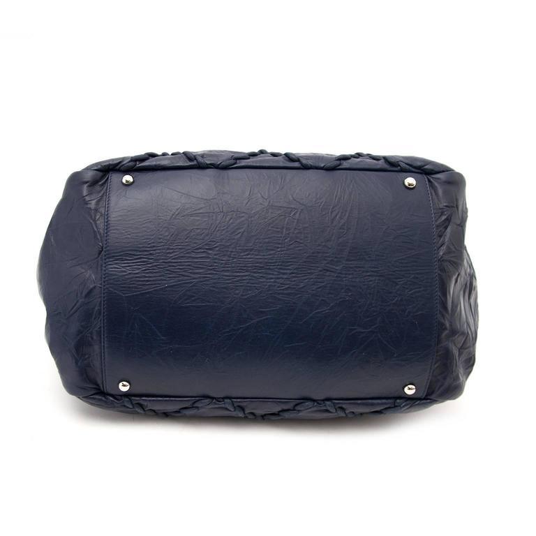 chanel blue grand shopping tote bag at 1stdibs