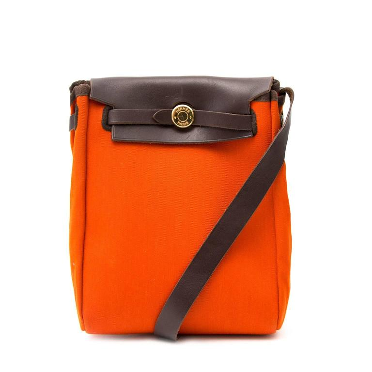 Hermès Orange & Red Mini Herbag In Good Condition For Sale In Antwerp, BE