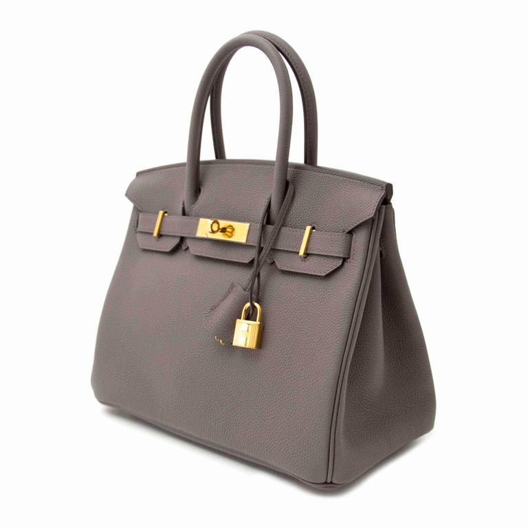 f25e3285d6 Hermès Birkin 30 Togo Etain GHW For Sale at 1stdibs