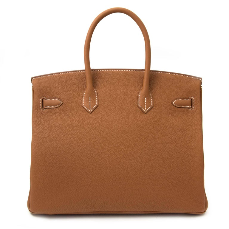 Hermès Birkin 35 Togo Gold GHW  In New Condition In Antwerp, BE
