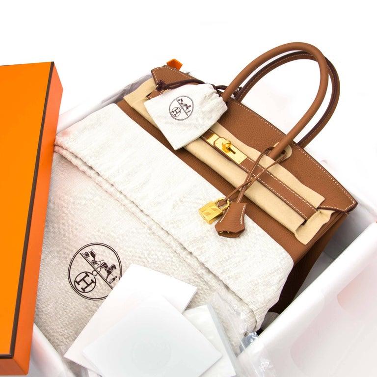 Women's or Men's Hermès Birkin 35 Togo Gold GHW