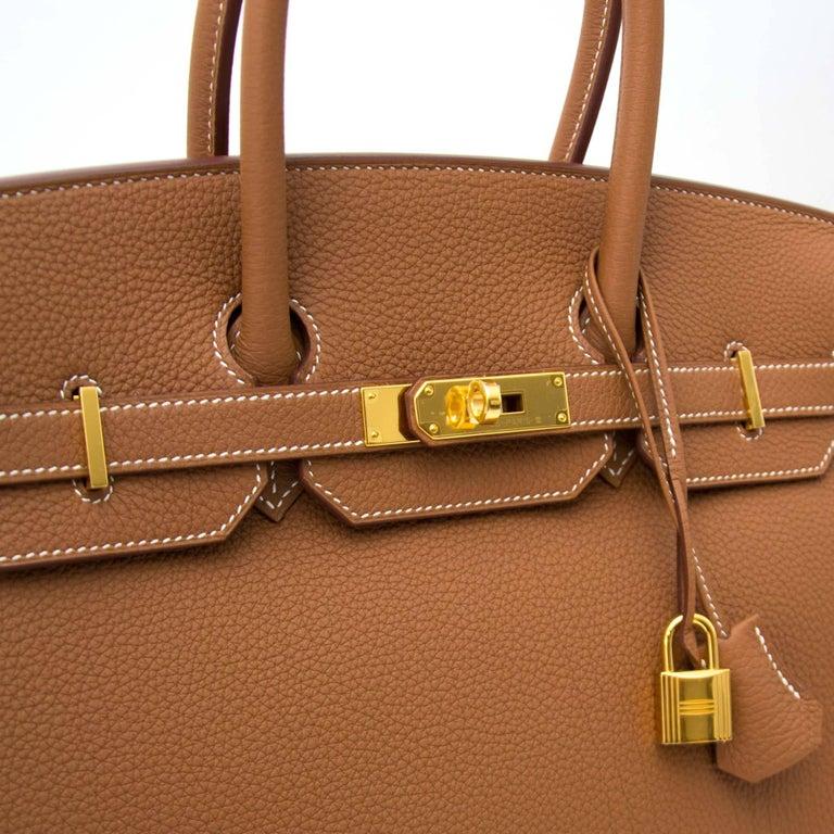 Hermès Birkin 35 Togo Gold GHW  2