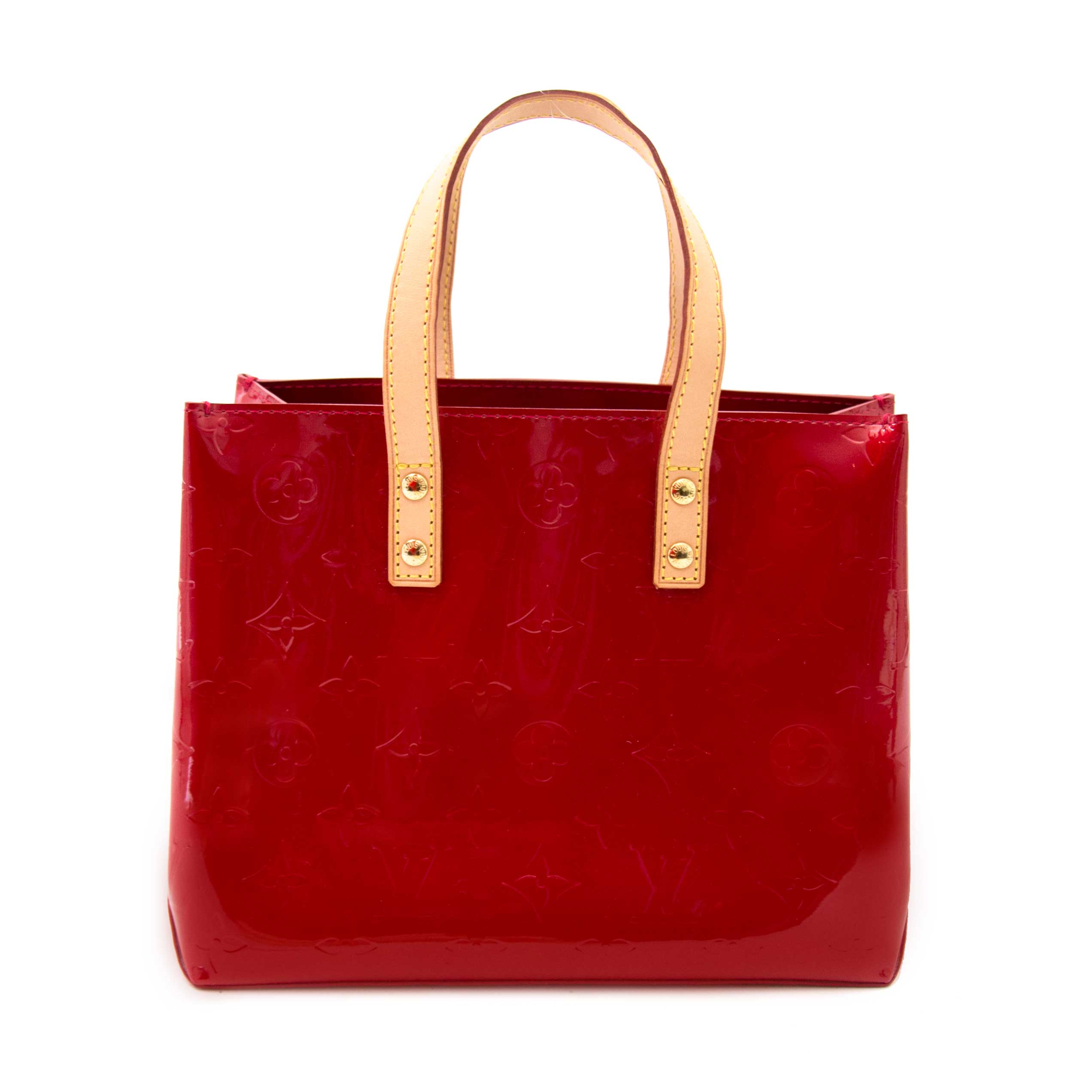 eb0164b192c3 Louis Vuitton Mini Reade Red Vernis Leather Tote Bag at 1stdibs
