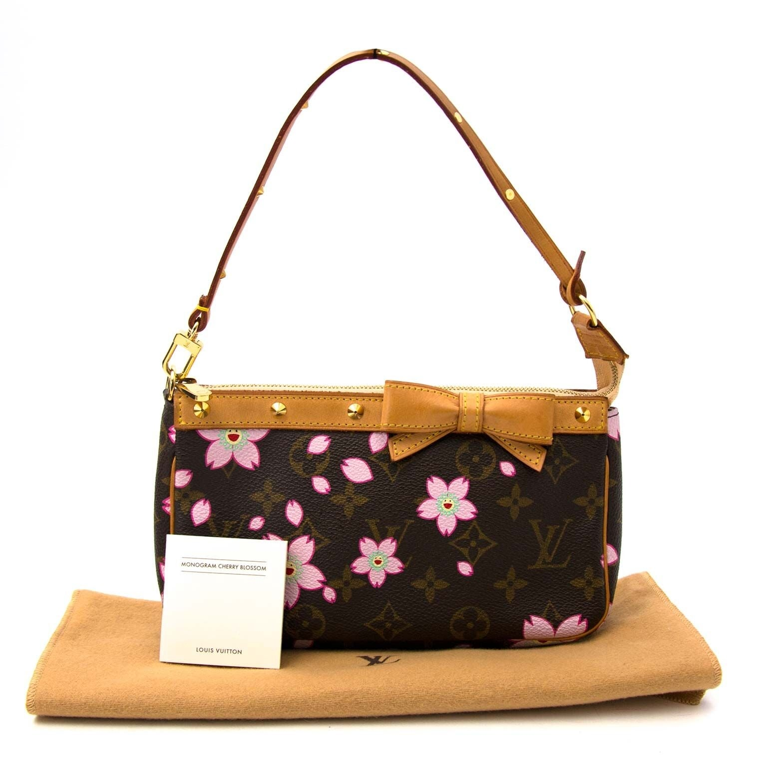 Louis Vuitton Limited Edition Monogram Cherry Blossom Pochette at 1stdibs f0c55f6187d76