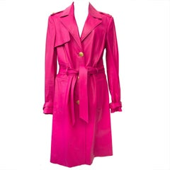 Versace Pink Medusa Leather Trench 2011