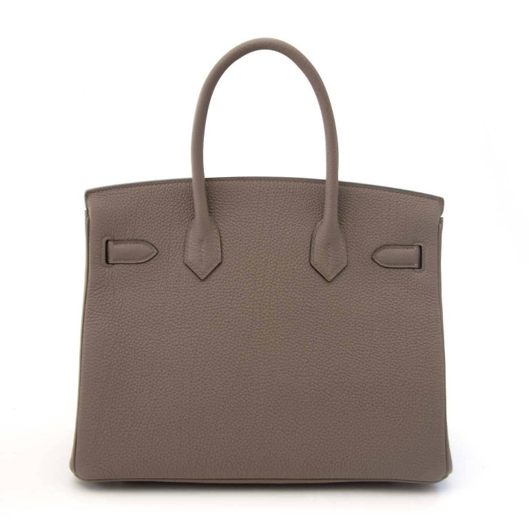 Brand New  Hermès Birkin 30 Togo Gris Asphalte phw  The Hermès Birkin bag, the most coveted bag in the world! This stunning Birkin bag comes in a grayish 'Gris Asphalte' togo leather featured by palladium hardware.  Togo leather is known for its