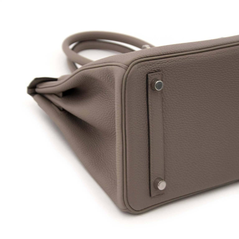 Hermès Togo Gris Asphalte Palladium Hardware Birkin 30 Bag In New Never_worn Condition For Sale In Antwerp, BE
