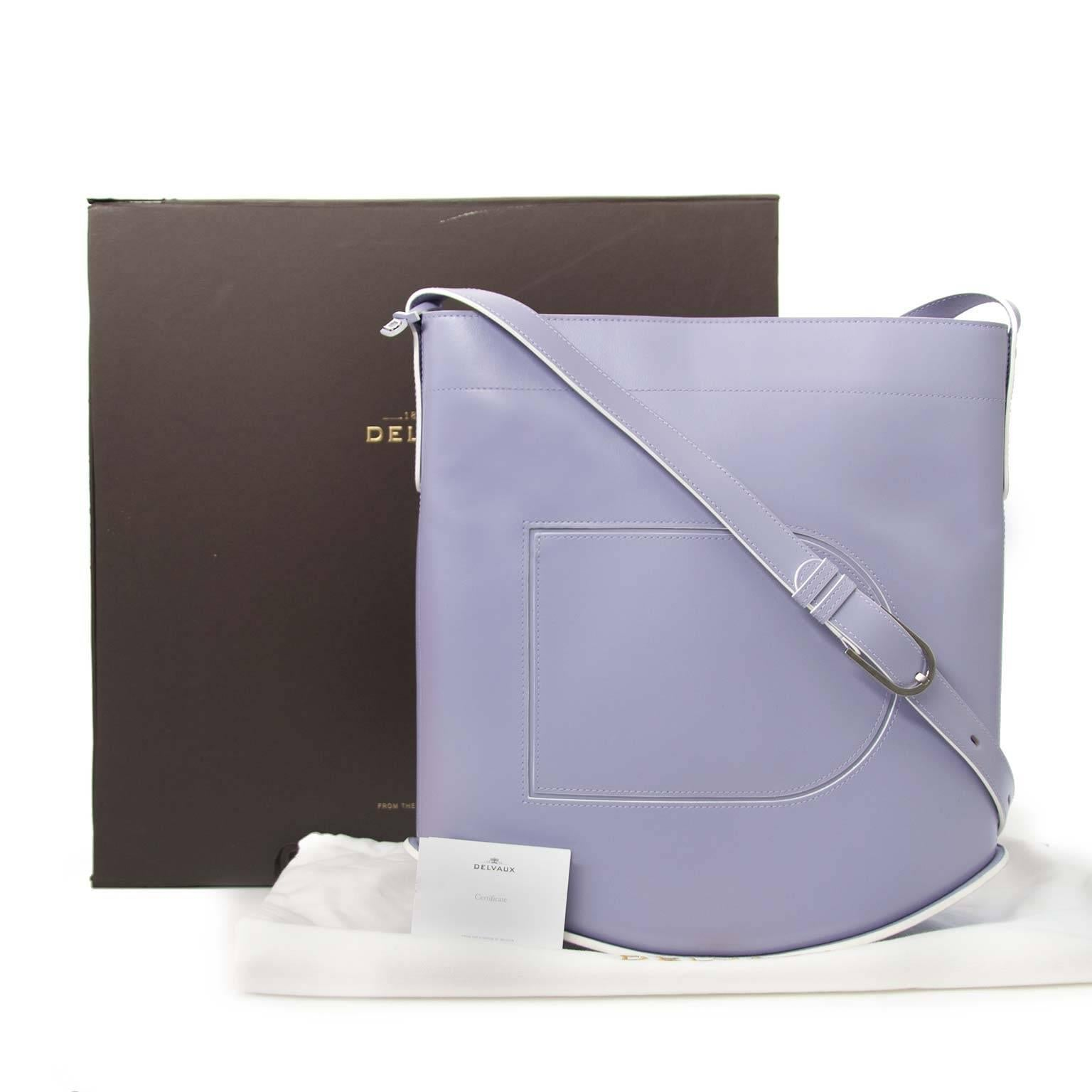 96e0c1bc24 Delvaux Lila Le Pin Box Calf Leather Shoulder Bag For Sale at 1stdibs