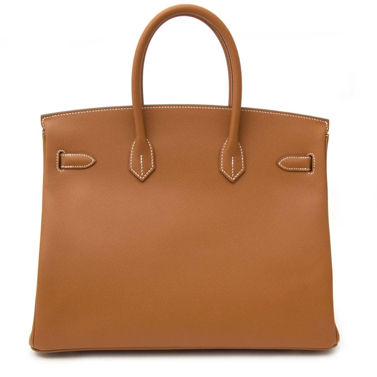 Hermès Gold Epsom GHW Birkin 35 Bag  In New Condition For Sale In Antwerp, BE