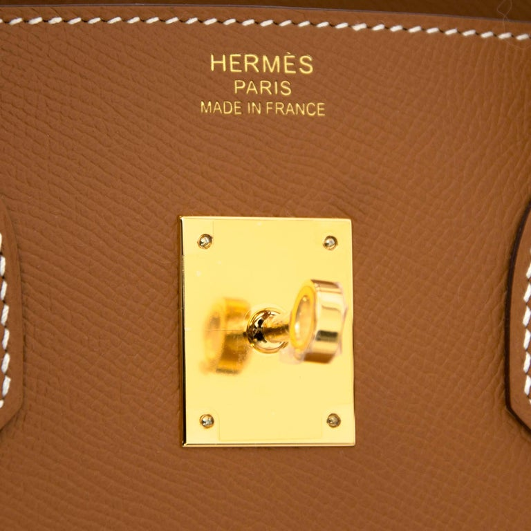 Hermès Gold Epsom GHW Birkin 35 Bag  For Sale 2