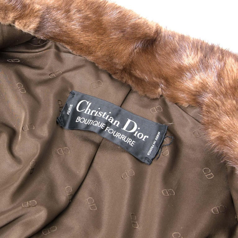 31226cc90 Christian Dior Mink Fur Bomber Jacket