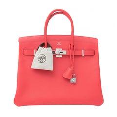BRANDNEUE Hermès Birkin Tasche 35 Epsom Rose Jaipur PHW