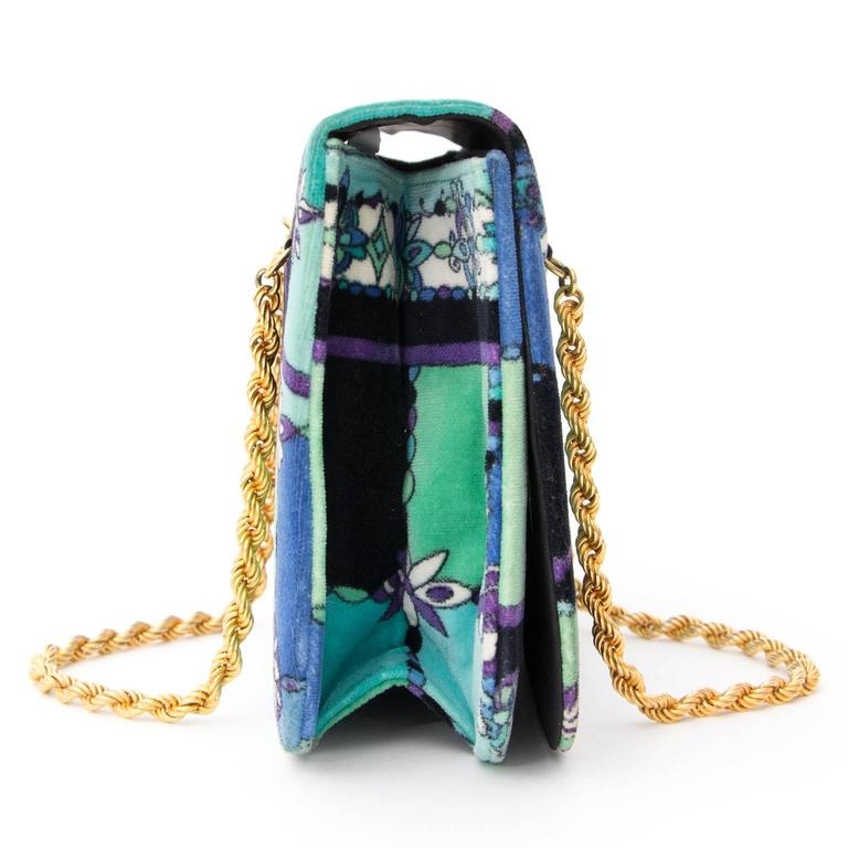 Chic Emilio Pucci Evening Bag with amazing colourful design. 