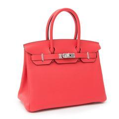 52069ddbb BRAND*NEW Hermès Birkin Bag 30 Togo Rouge Pivoine PHW at 1stdibs