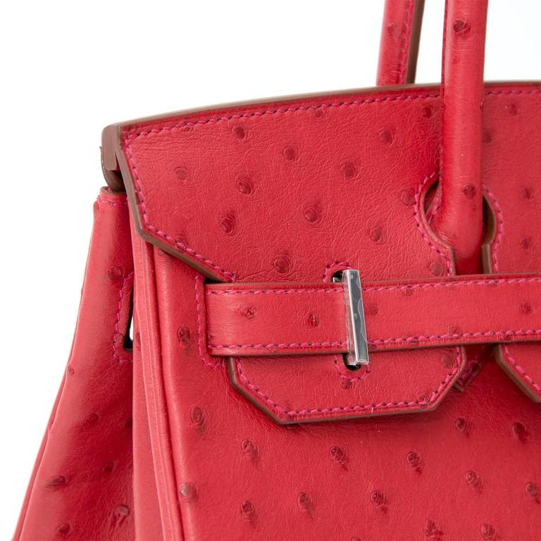 BRAND*NEW*Hermes Ostrich Birkin 30 Rouge Vif 5