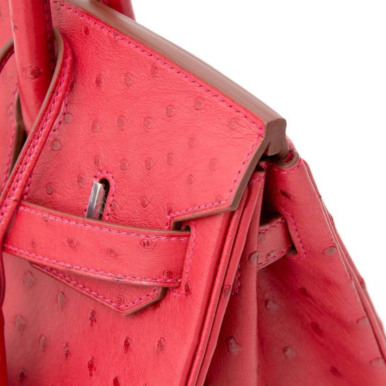 BRAND*NEW*Hermes Ostrich Birkin 30 Rouge Vif 3