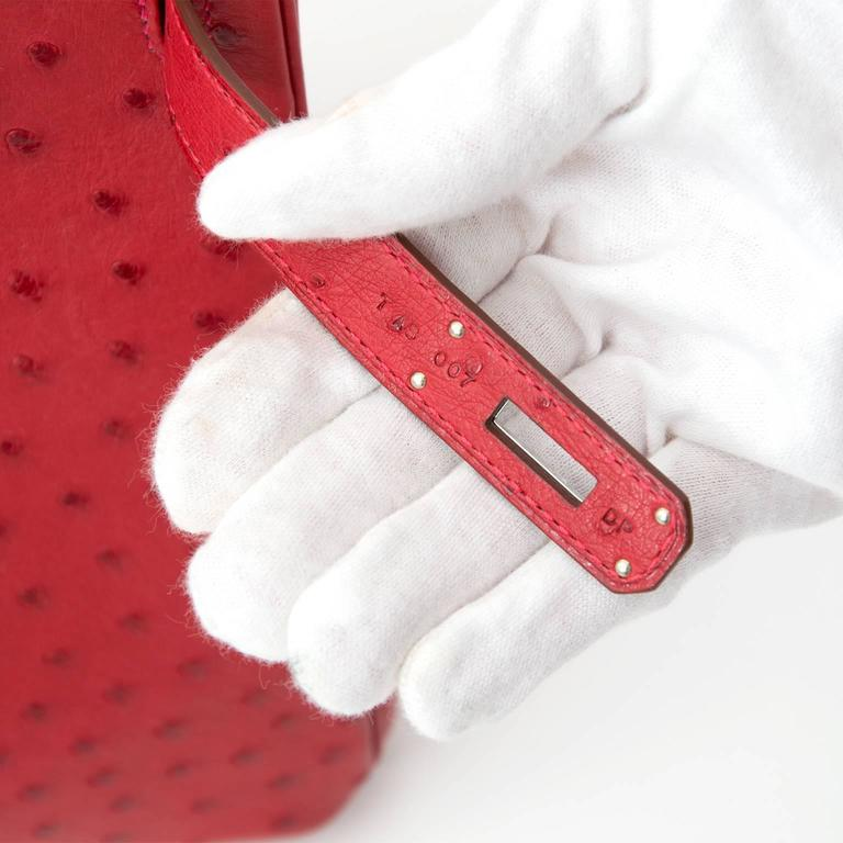 BRAND*NEW*Hermes Ostrich Birkin 30 Rouge Vif 4