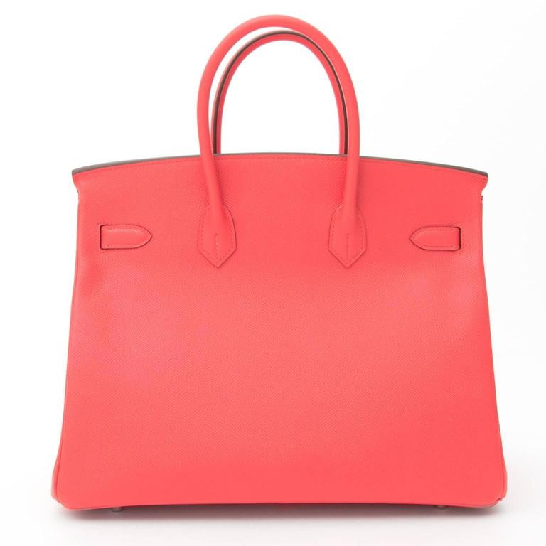 BRAND NEW Hermès Birkin Bag 35 Epsom Rose Jaipur PHW  For Sale 1