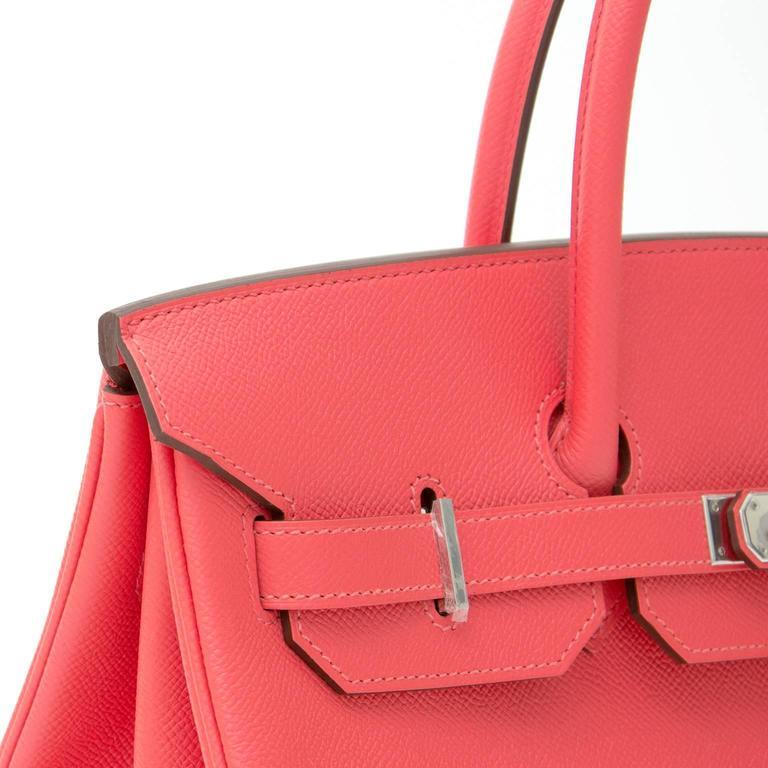 BRAND NEW Hermès Birkin Bag 35 Epsom Rose Jaipur PHW  For Sale 3