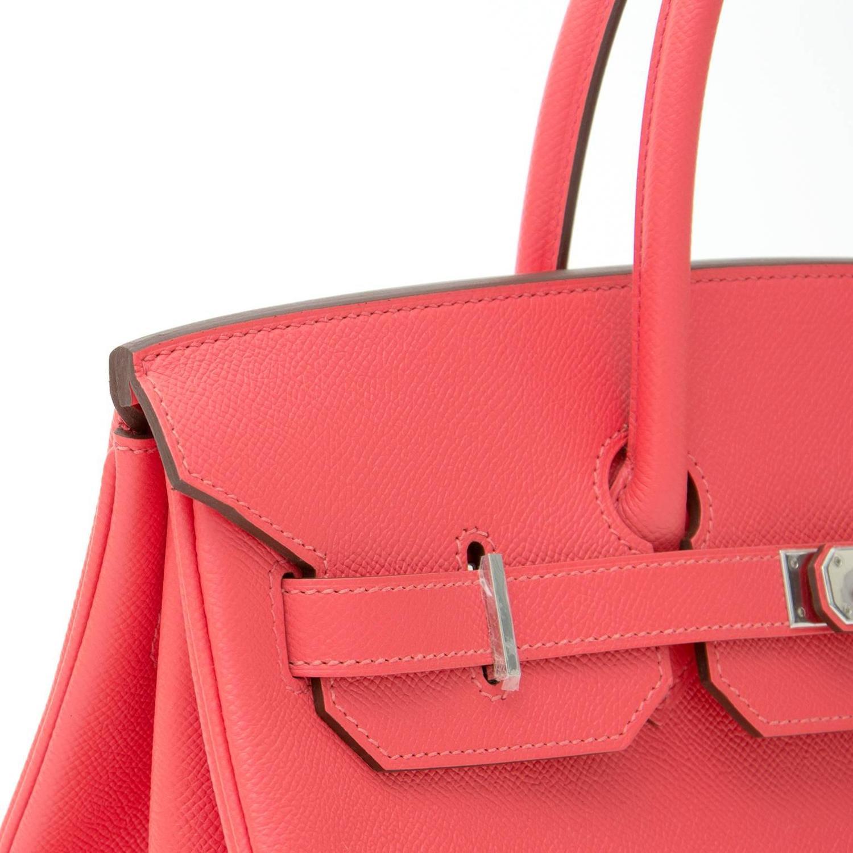 02819c686eef Hermes Birkin 35 Bag Etoupe Epsom Leather Handstitched Silver hw -. BRAND  NEW Herm¨¨s Birkin Bag 35 Epsom Rose Jaipur PHW For Sale at
