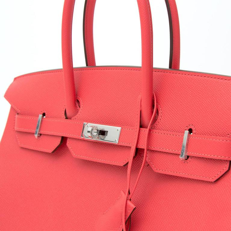 BRAND NEW Hermès Birkin Bag 35 Epsom Rose Jaipur PHW  For Sale 5