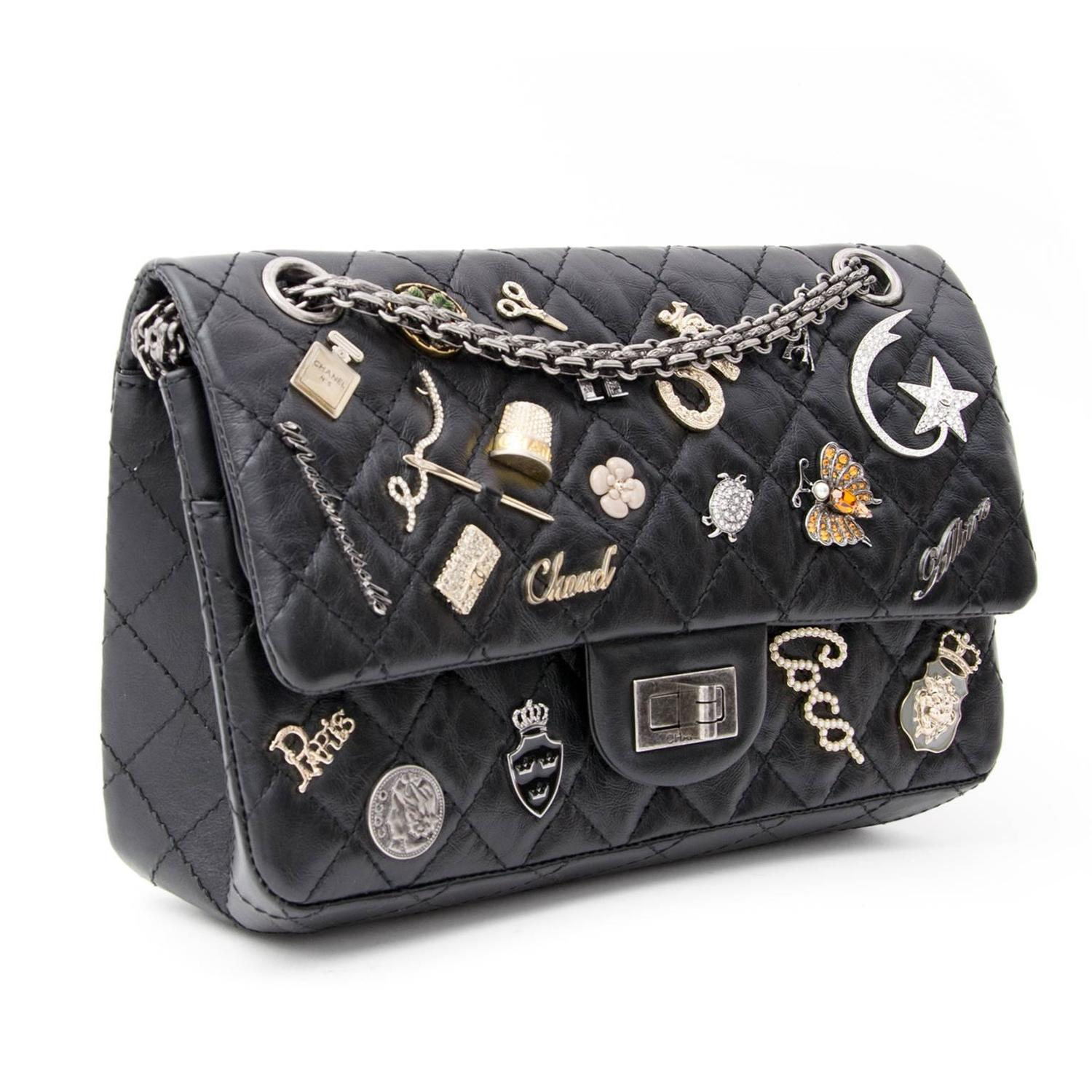 chanel lucky charm 2 55 reissue flap bag 225