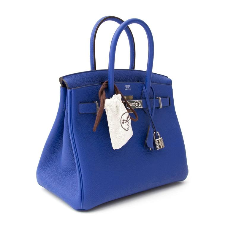 Women s Brand New Hermes Birkin 30 Togo Bleu Electrique. LabelLOV For Sale 46c08ebfa1