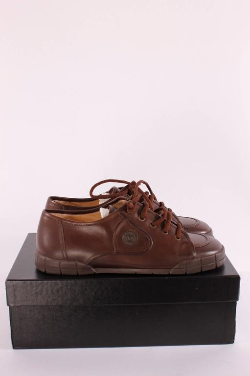 Chanel leather shoes - brown 3