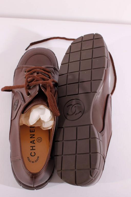Chanel leather shoes - brown 4