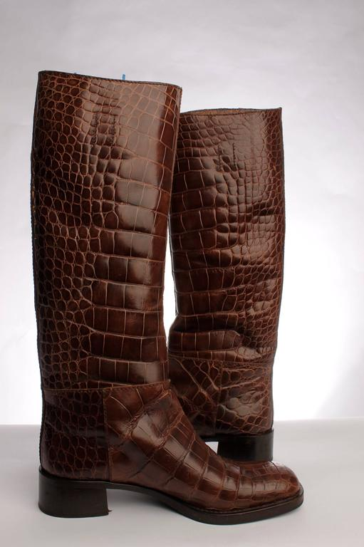 Prada Boots Crocodile Leather - brown 2
