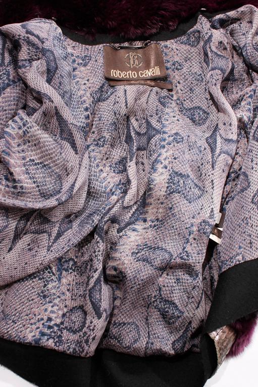 Roberto Cavalli Chinchilla & Python Fur Coat - purple 40th anniversary  5