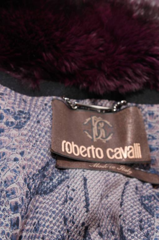 Roberto Cavalli Chinchilla & Python Fur Coat - purple 40th anniversary  4