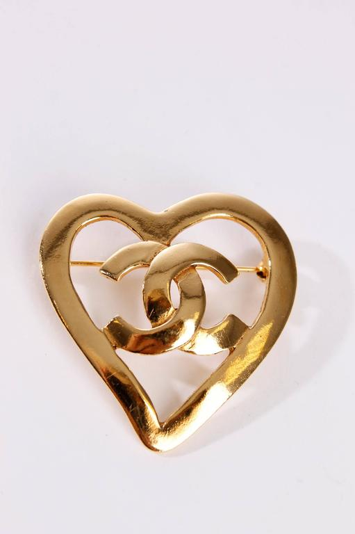 Chanel Broche - gold plated / heart 3