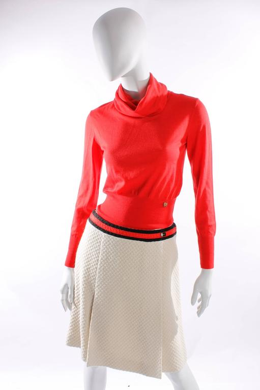 Chanel 4-pcs Suit - cream/red/black wool 3