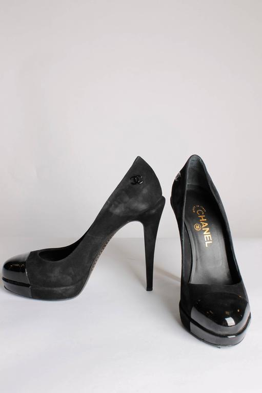 Chanel Pumps - black suede/patent leather 2